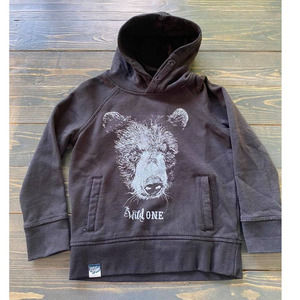 Lion of Leisure The Wild One Bear Hoodie Size 3-4